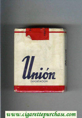 Union Exportacion cigarettes white and red soft box