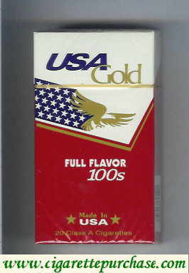 Discount USA Gold Full Flavor 100s cigarettes hard box
