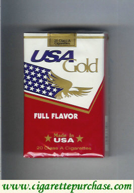 Discount USA Gold Full Flavor cigarettes soft box