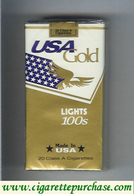 Discount USA Gold Lights 100s cigarettes soft box