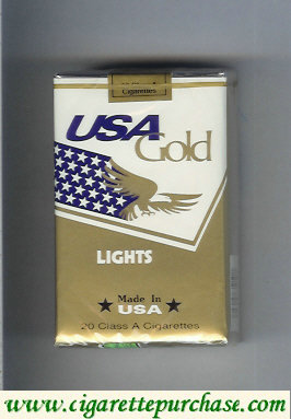 Discount USA Gold Lights cigarettes soft box