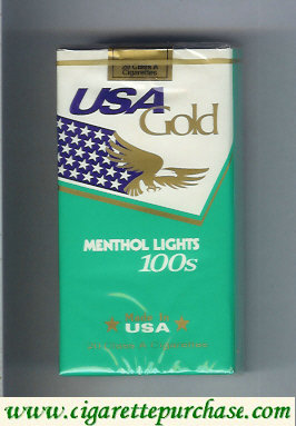 Discount USA Gold Menthol Lights 100s cigarettes soft box