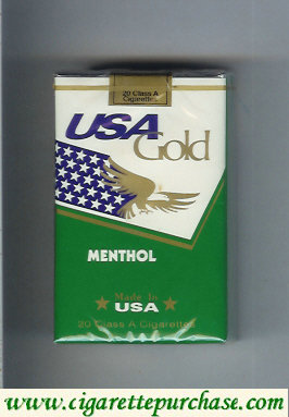 Discount USA Gold Menthol cigarettes soft box