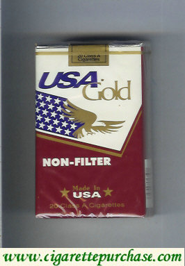 Discount USA Gold Non-Filter cigarettes soft box