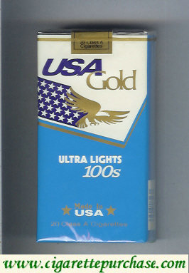 Discount USA Gold Ultra Lights 100s cigarettes soft box