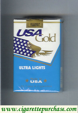 Discount USA Gold Ultra Lights cigarettes soft box