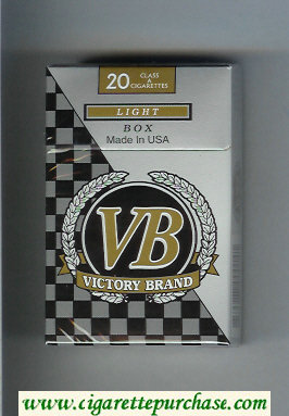 VB Victory Brand Light Box cigarettes hard box