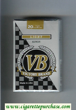 VB Victory Brand Light Kings cigarettes soft box