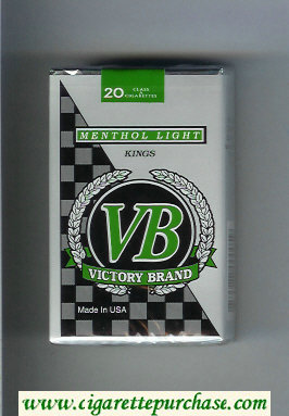 VB Victory Brand Menthol Light Kings cigarettes soft box