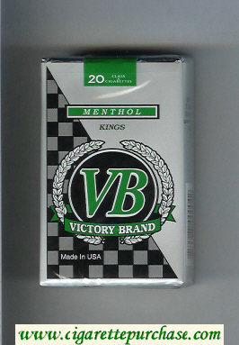 VB Victory Brand Menthol Kings cigarettes soft box