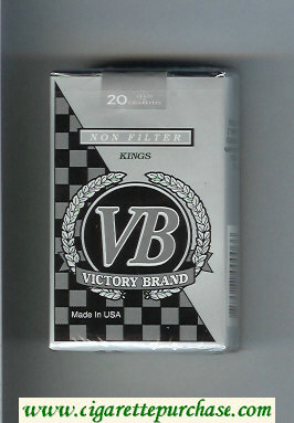 VB Victory Brand Non Filter Kings cigarettes soft box