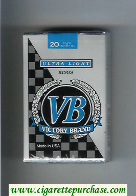 VB Victory Brand Ultra Light Kings cigarettes soft box