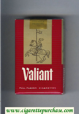 Valiant Full Flavor cigarettes soft box