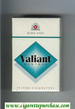 Valiant Menthol cigarettes hard box