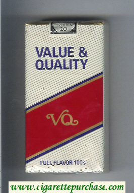 Value and Quality Full Flavor 100s cigarettes soft box