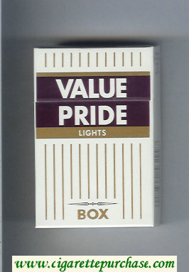 Value Pride Lights Box cigarettes hard box