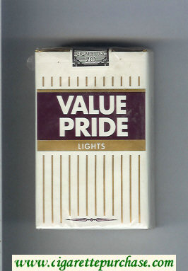 Value Pride Lights cigarettes soft box