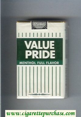 Value Pride Menthol Full Flavor cigarettes soft box
