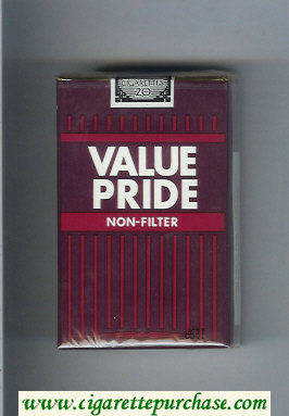 Value Pride Non-Filter cigarettes soft box