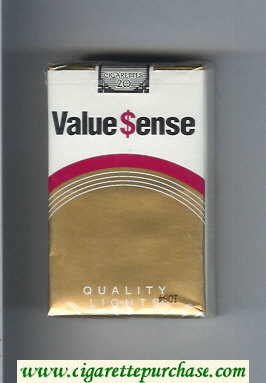 Value Sense Quality Lights cigarettes soft box