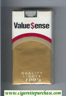 Value Sense Quality Lights 100s cigarettes soft box