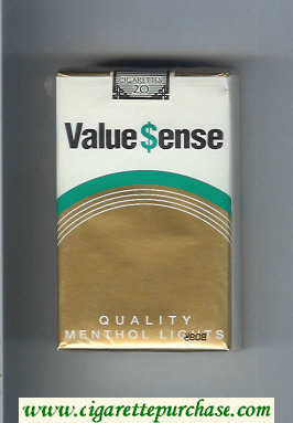 Value Sense Quality Menthol Lights cigarettes soft box