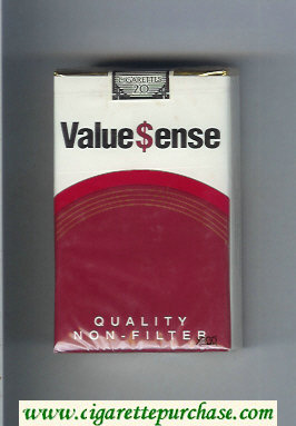 Value Sense Quality Non-Filter cigarettes soft box