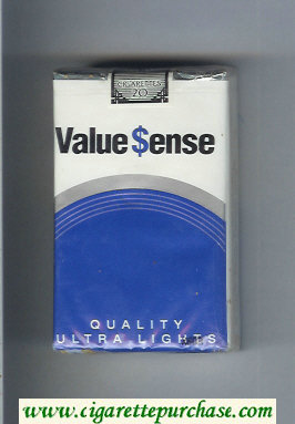 Value Sense Quality Ultra Lights cigarettes soft box