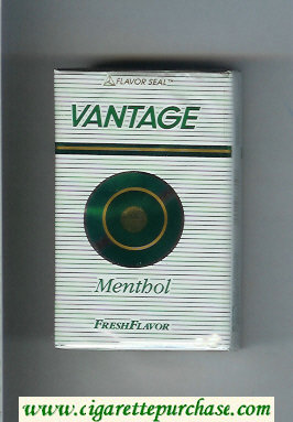 Discount Vantage Menthol Fresh Flavor Cigarettes soft box