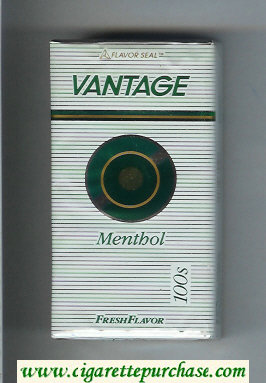 Discount Vantage Menthol 100s Fresh Flavor Cigarettes soft box
