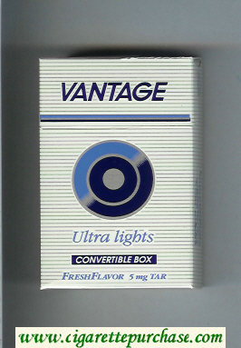 Discount Vantage Ultra Lights Cigarettes hard box