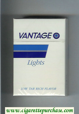 Vantage Lights Cigarettes hard box