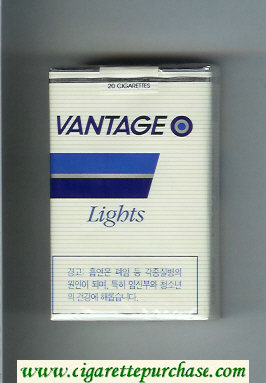 Vantage Lights Cigarettes soft box