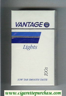 Vantage Lights 100s Cigarettes hard box