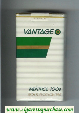 Discount Vantage Menthol 100s Cigarettes soft box