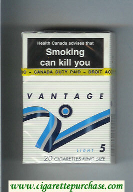 Discount Vantage 5 Light Cigarettes hard box
