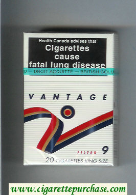 Discount Vantage 9 Filter Cigarettes hard box