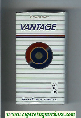 Vantage Fresh Flavor 100s Cigarettes soft box