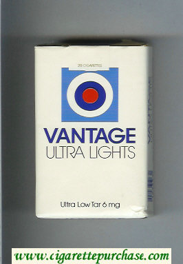 Vantage Ultra Lights Cigarettes soft box