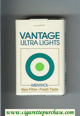 Vantage Ultra Lights Menthol Cigarettes soft box