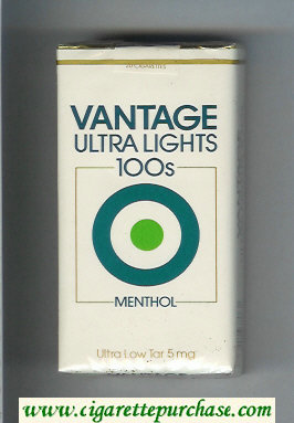 Discount Vantage Ultra Lights 100s Menthol Cigarettes soft box