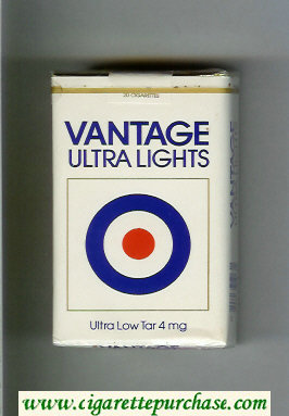 Discount Vantage Ultra Lights Cigarettes soft box