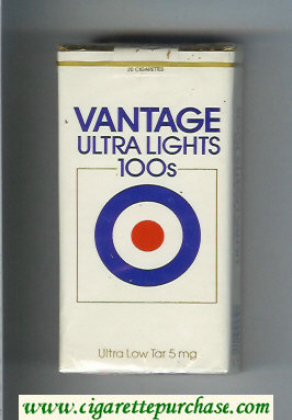 Vantage Ultra Lights 100s Cigarettes soft box