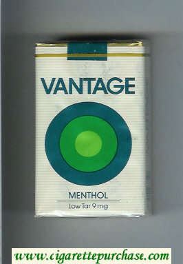 Discount Vantage Menthol soft box Cigarettes