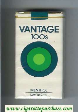 Discount Vantage 100s Menthol Cigarettes soft box