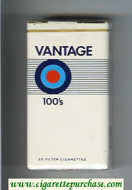 Vantage 100s soft box Cigarettes