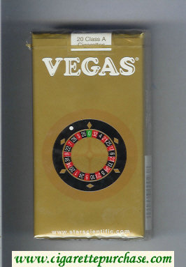 Vegas 100s Cigarettes gold soft box