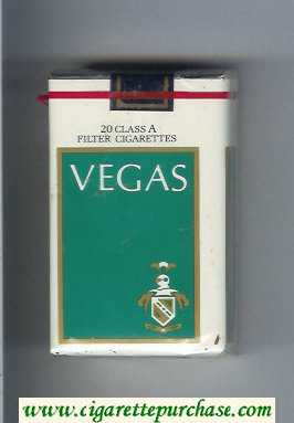 Vegas Cigarettes white and green soft box