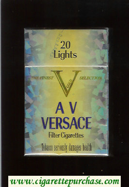 Versace AV Lights Cigarettes hard box