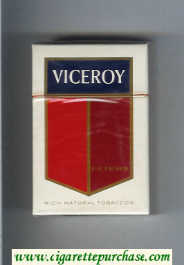 Discount Viceroy Filters Cigarettes Rich Natural Tobaccos hard box